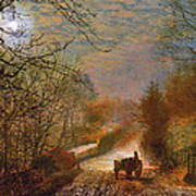 Forge Valley Near Scarborough Print by John Atkinson Grimshaw