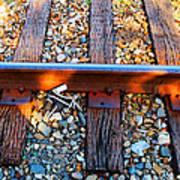 Forgotten - Abandoned Shoe On Railroad Tracks Art Print