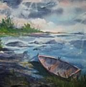 Forgotten Rowboat Art Print