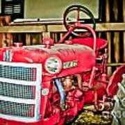 Forgotten Tractor Art Print