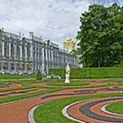 Formal Garden In Front Of The Palace Art Print