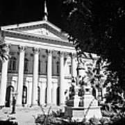 former national congress building Santiago Chile Art Print