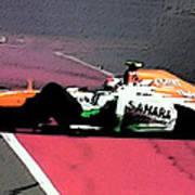 Formula 1 Grand Prix Crash Art Print