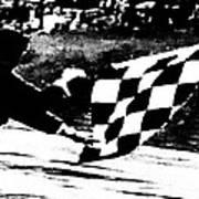 Formula 1 Vintage Checkered Flag Art Print