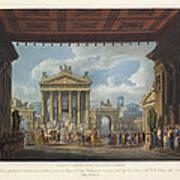 Foro Di Pompei Festivamente Adorno Art Print