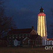 Fort Gratiot Lighthouse And Buildings Art Print