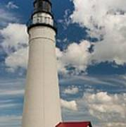 Fort Gratiot Lighthouse And Clouds Art Print