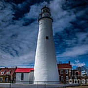 Fort Gratiot Lighthouse From The Water Side Art Print