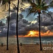Fort Lauderdale Beach Florida - Sunrise Art Print