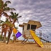 Fort Lauderdale Lifeguard Station Art Print