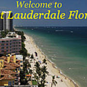 Fort Lauderdale Welcome Art Print
