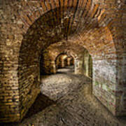 Fort Macomb Arches Vertical Art Print by David Morefield
