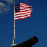 Fort Mchenry Flag And Cannon Art Print