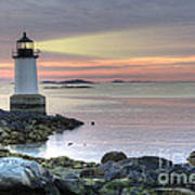 Fort Pickering Lighthouse At Sunrise Art Print
