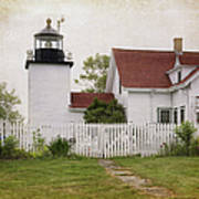 Fort Point Lighthouse Art Print by Joan Carroll