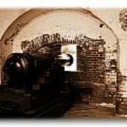 Fort Pulaski Canon Sepia Art Print