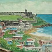 Fort San Felipe Del Morro From Fort San Cristobal Pr Art Print