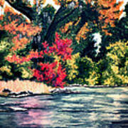 Fort Toulouse Tallapoosa River Flair Art Print
