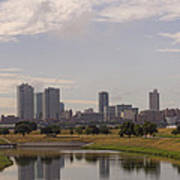 Fort Worth Skyline Partly Cloudy Art Print