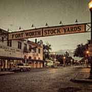 Fort Worth Stockyards Art Print