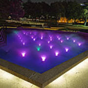 Fort Worth Water Garden Aerated Pool Art Print