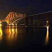 Forth Rail Bridge With Train Art Print