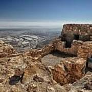 Fortress Of Masada Israel 1 Art Print by Mark Fuller