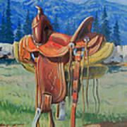 Forty Dollar Saddle Art Print