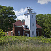 Forty Mile Point Lighthouse In Michigan Number 450 Art Print