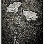 Fossilized Flowers Art Print