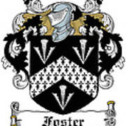 Foster Coat Of Arms Irish Art Print