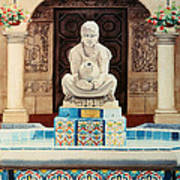 Fountain At Cafe Del Rey Moro Art Print by Mary Helmreich