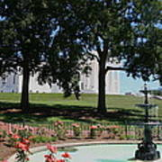 Fountain At Capitol Square  Art Print