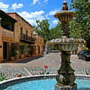 Fountain At Tlaquepaque Arts And Crafts Village Sedona Arizona Print by Amy Cicconi