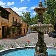 Fountain At Tlaquepaque Arts And Crafts Village Sedona Arizona Art Print