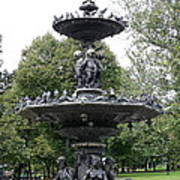 Fountain Boston Common Art Print