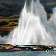 Fountain Geyser Yellowstone Np Art Print