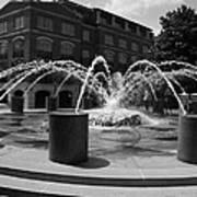 Fountain In Charleston Art Print
