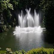 Fountain In Lake Art Print