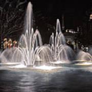 Fountains At Night Art Print