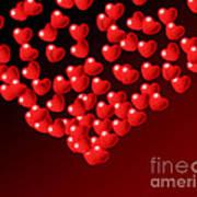 Fountain Of Love Hearts Art Print