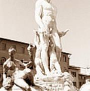 Fountain Of Neptune Florence Art Print