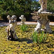 Fountain With King Neptune And Tritons Print by Jose Elias - Sofia Pereira