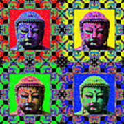Four Buddhas 20130130 Print by Wingsdomain Art and Photography