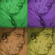 Four Colours Of Obama Art Print
