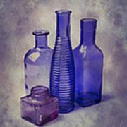 Four Glass Bottles Art Print