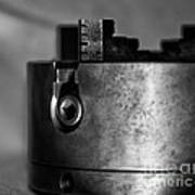 Four Jaw Chuck Black And White Art Print