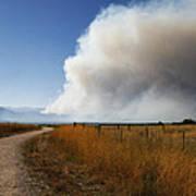 Four Mile Canyon Fire Colorado Art Print