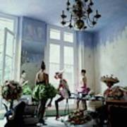 Four Models Inside Christian Lacroix's Studio Art Print