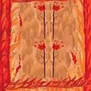 Four Of Wands Art Print